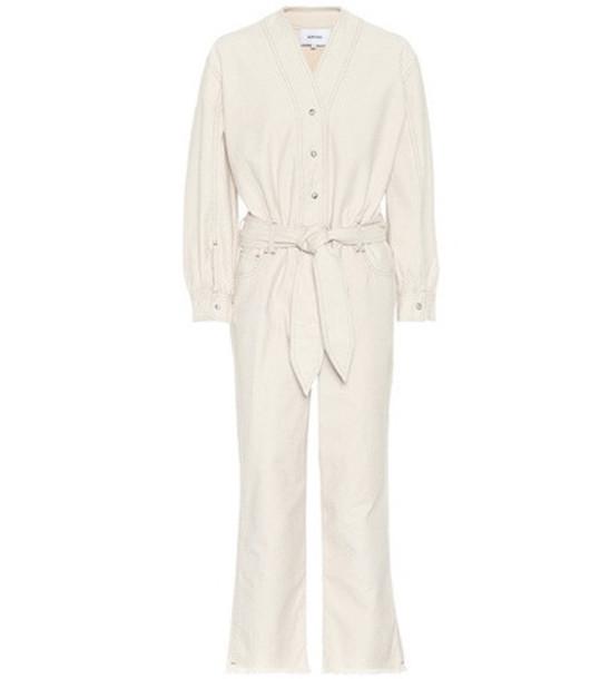 jumpsuit cotton white