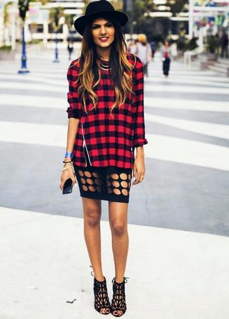 skirt streetstyle street fashion streetwear street creative trend style shoes fedora