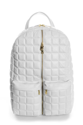 bag backpack white zip school bag