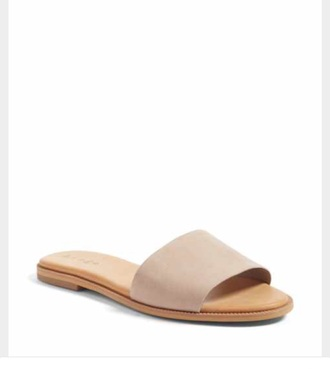 shoes flat slide sandal cute sandals cute flat sandal slide sandal nude sandals nude flat sandals