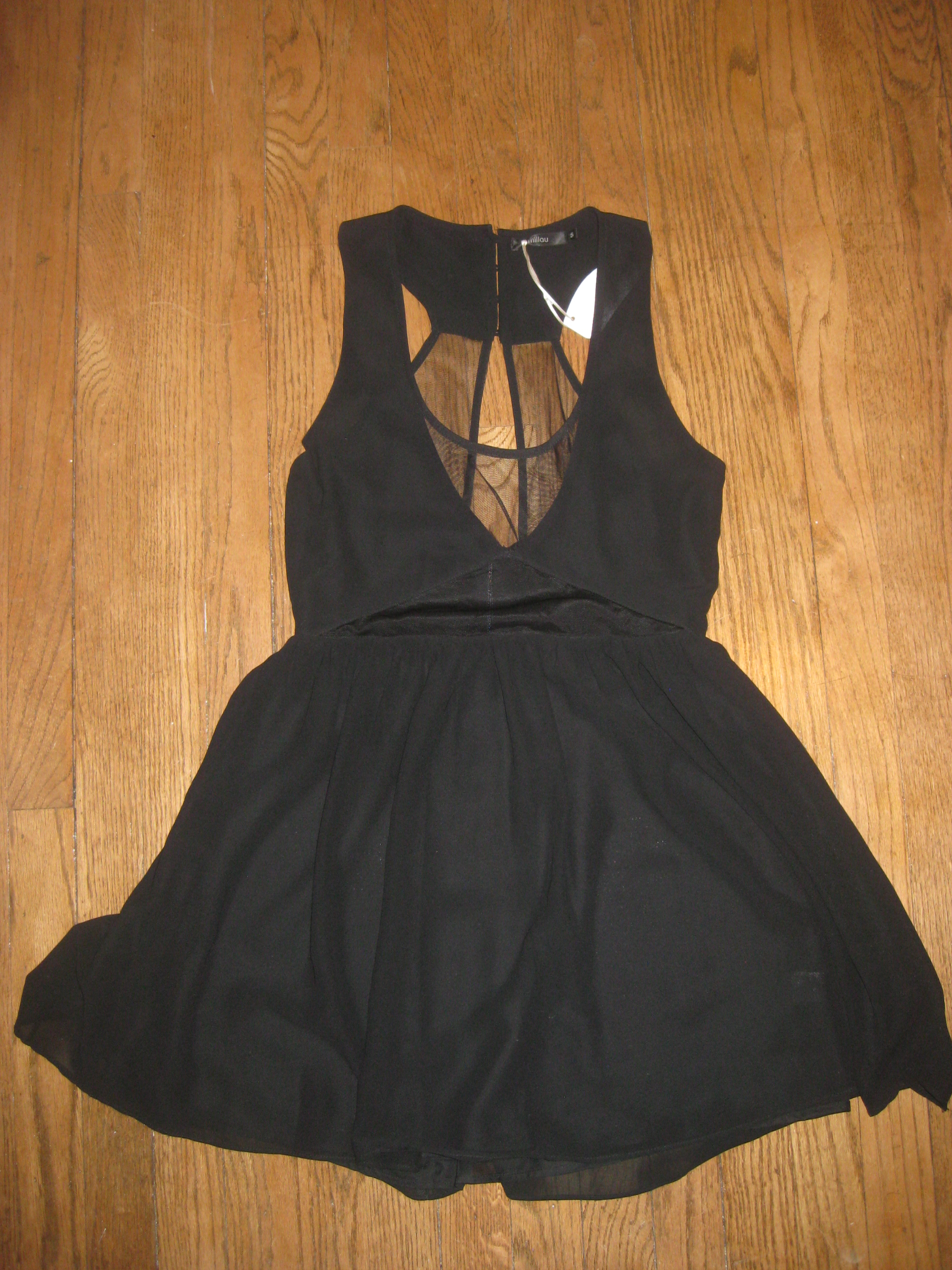 Black sheer cut out skater dress size s from nightmere clothing on storenvy