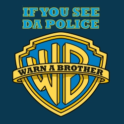 Buy funny if you see da police, warn a brother t shirts online