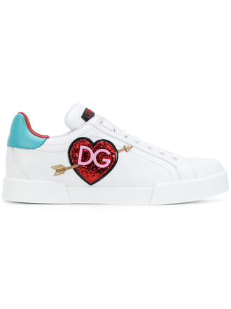 heart women sneakers leather white shoes