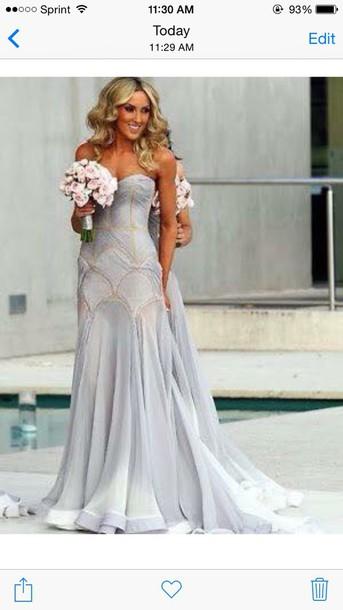 dress wedding dress elegant dress evening dress