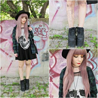 dress skull grunge black shoes