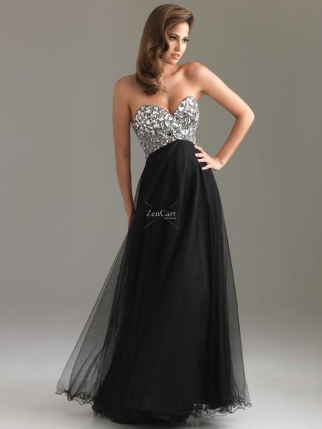 bbf5aa8d7ca836 dress black prom dress bedazzled