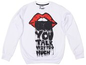printed sweater,print,white,sweater,sweatshirt,streetwear,streetstyle,fashion,clothes