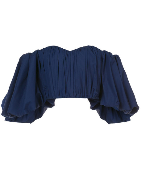 ellery top cropped women cotton blue