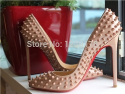 Online Shop Free shipping Fashion Red Bottoms Pink Paint Leather stud spikes High Heeled Platform Shoes Boots Pumps Genuine leather sandals|Aliexpress Mobile