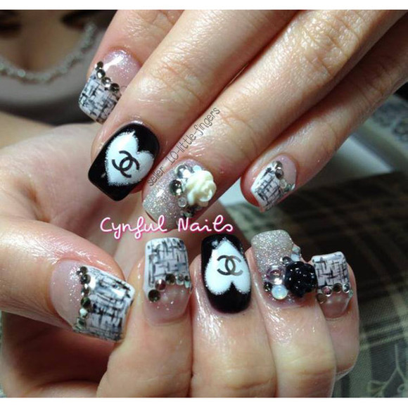 heart nail polish decoration stickers decals diy rose nail accessories nail art Nails brands designer logo symbol french silver nails art manicure pedicure louis vuitton chanel glitter dior