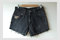 Waist 31/high rise/ naturally distressed/ purposely frayed/ studded/ men's cut denim shorts/ for women