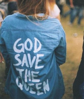 shirt denim jacket denim white blue blue shirt