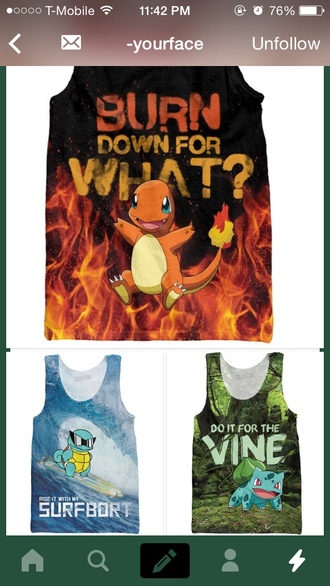 pokemon charmander squirtle pokemon bulbasaur t-shirt harry styles michael clifford cool