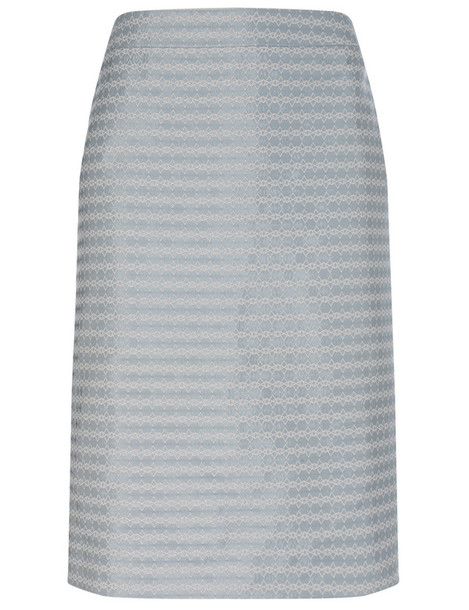 Alexander Lewis skirt baby jacquard blue silk baby blue