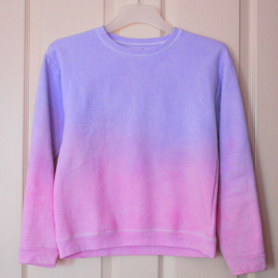 Ombre Crew Neck Sweatshirt by trendydreamers on Etsy