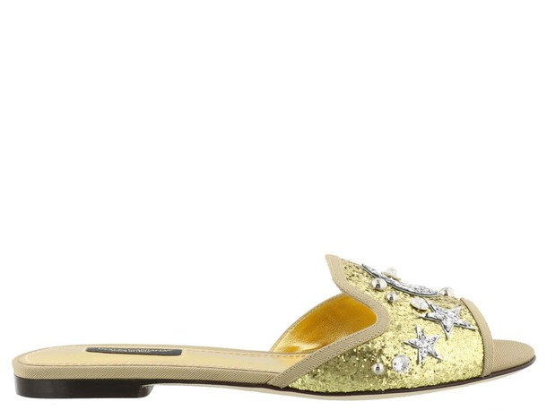 Dolce & Gabbana gold silver shoes