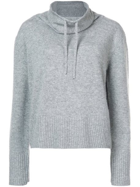 jumper women wool grey sweater