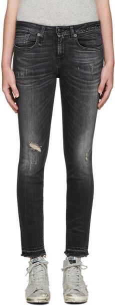 R13 jeans black
