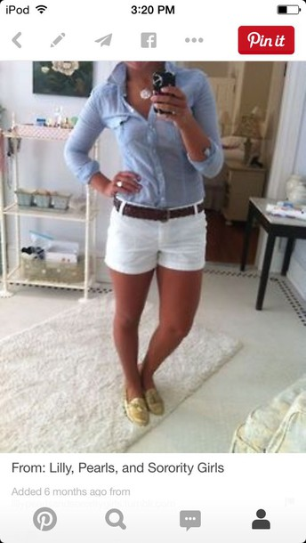 pants white shorts and the top