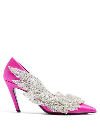 pumps silver pink shoes