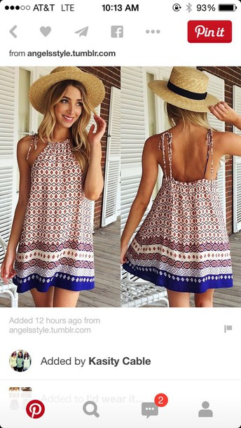 dress boho halter neck