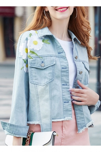 cardigan floral fashion style denim jeans girly cute jewels jewelry earrings hoop earrings accessories accessory