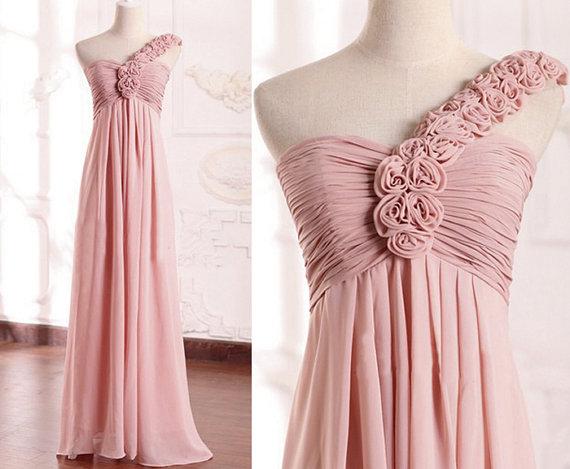 robe de peach robe longue une paule robes de bal par sofitdress. Black Bedroom Furniture Sets. Home Design Ideas