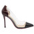 Wine/Black Silicon High Heels