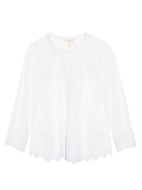 Rebecca Taylor top long cotton white
