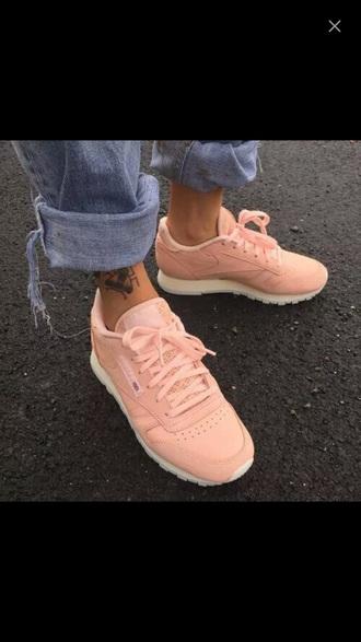 shoes pastel pink reebok sneakers pastel pink reebok shoes