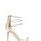 Triple the fun metallic heels silver - gojane.com