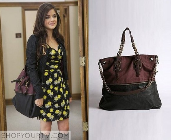 pretty little liars lucy hale bag red and black