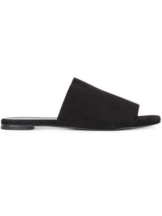 women sandals suede black shoes