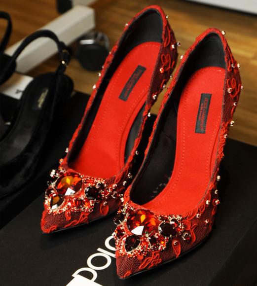 orange orange shoes jewels