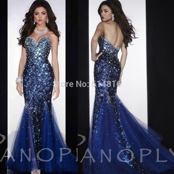 prom dress gorgeous evening dress evening dress rhinestones