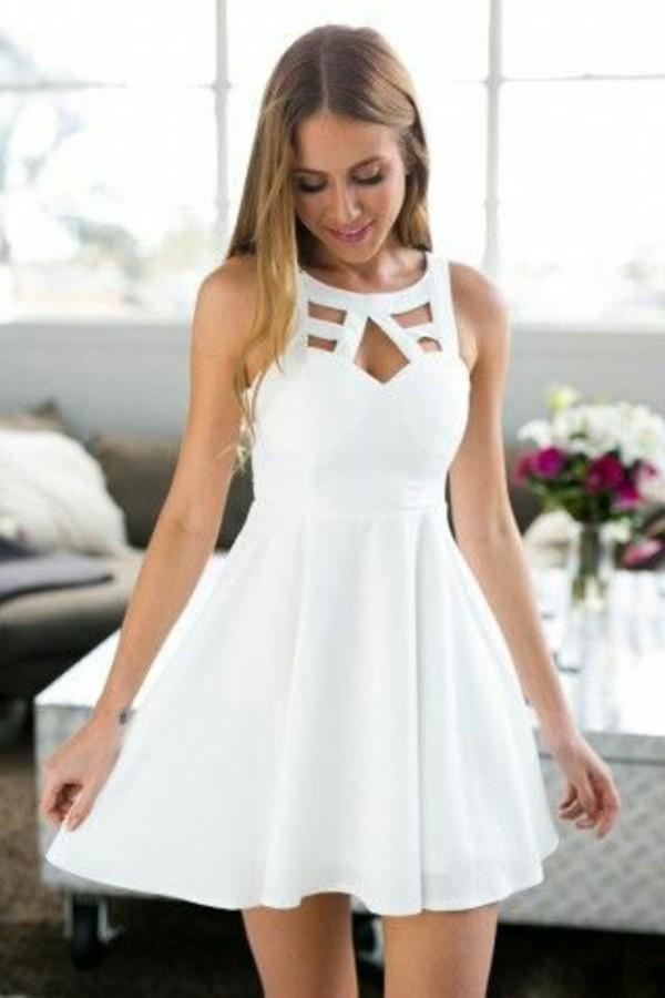 Белое платье на лето 2017