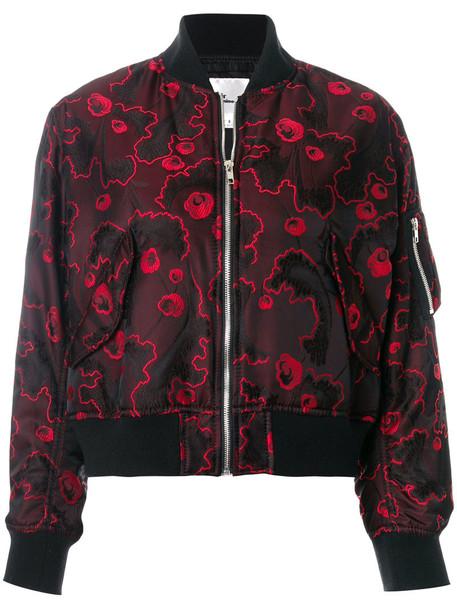 jacket bomber jacket women jacquard floral black