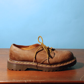 shoes dr martens airwair drmartens low brown indie hipster