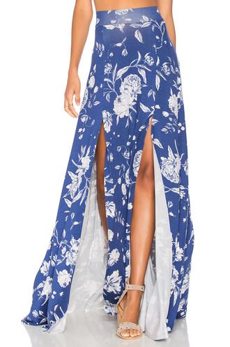 skirt maxi skirt maxi blue