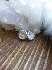 jewels,the glitzy hen,silver,silver earrings,silver studs,chevron,chevron earrings,studs,stud earrings