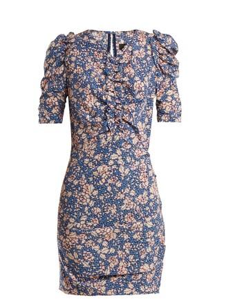 dress floral print blue
