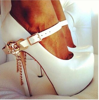 shoes white and gold white heels all white everything all white party platform shoes platform pumps