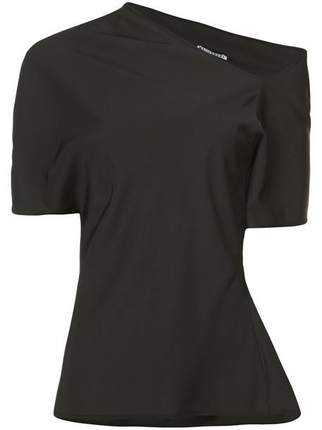 MATICEVSKI blouse women black wool top