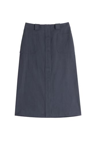 skirt mini cotton blue