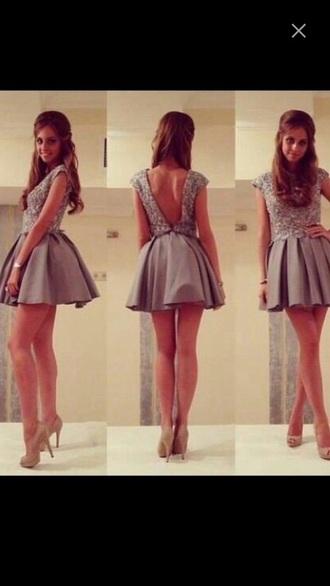 dress short jewels gliter shiny coctail backness