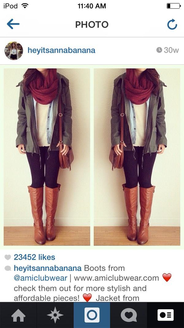 scarf burgundy