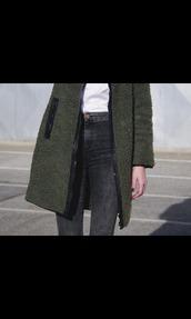 coat,green,tumblr,leather,whool,long,cute,grunge,sweet,sexy,warm