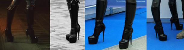 shoes black boots latex platform boots platform high heels high heels boots boots black boots leather black platform boots platform boots