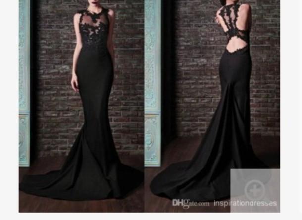 dress black black prom dress prom dress