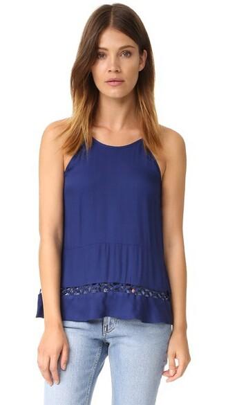 blouse sleeveless navy top